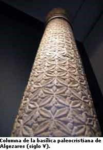 Columna de la Basílica paleocristiana de Algezares (siglo V)