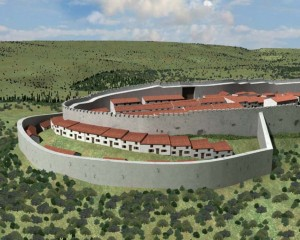 Recreación de la muralla visigoda