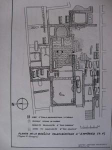 Planta de la Basílica de Ampuerias según Almagro