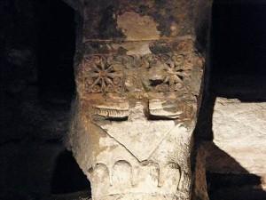 Restos Visigodos de la cripta de la Basílica de Barcelona