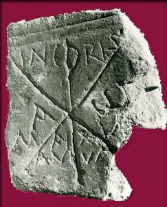 Lápida paleocristiana de la mecrópolis de Ampurias